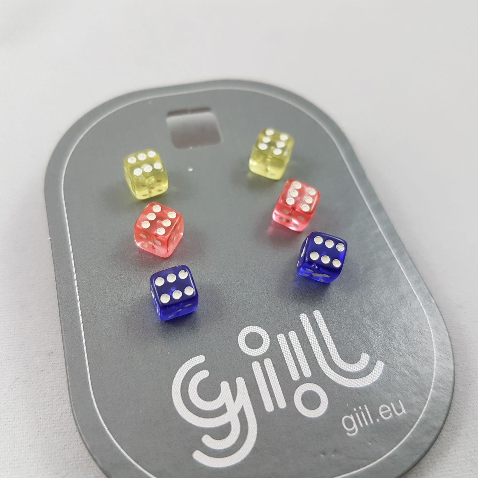 Náušnice v podobě barevných kostek GIIL
