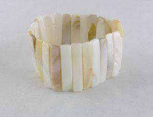 Perleťový náramek na gumičku