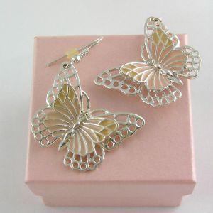 Plastičtí motýlci, visací náušnice