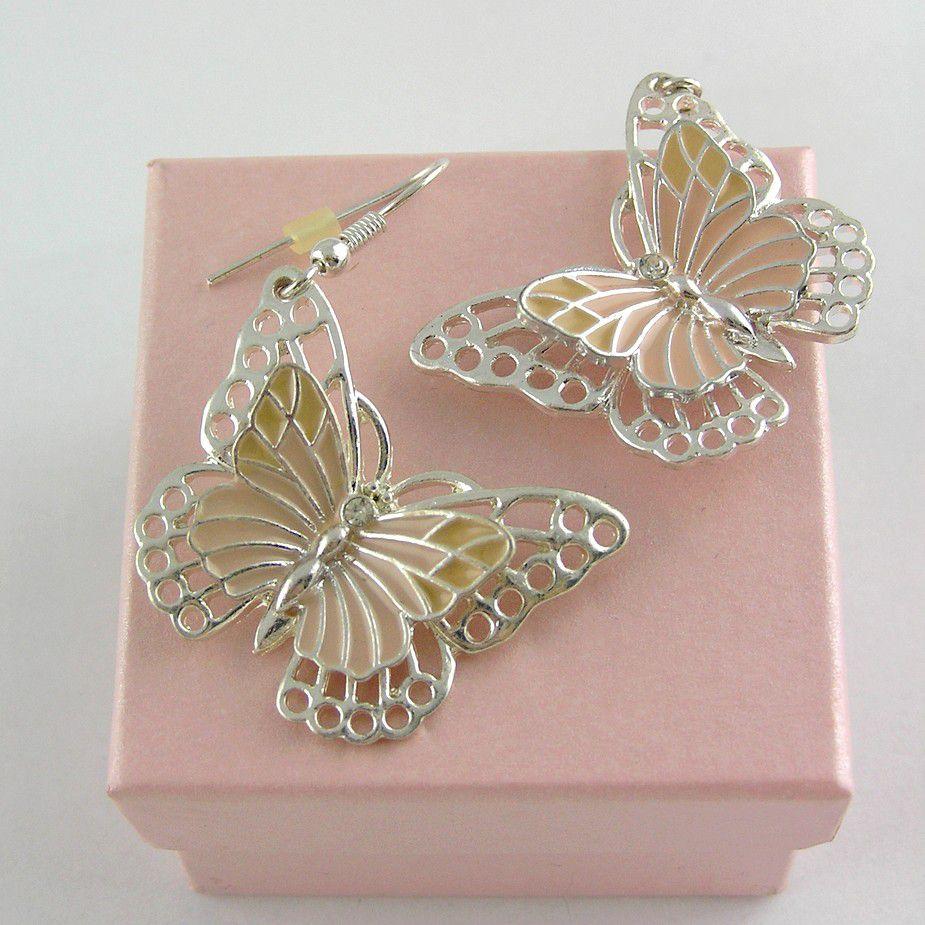 Plastičtí motýlci, visací náušnice GIIL