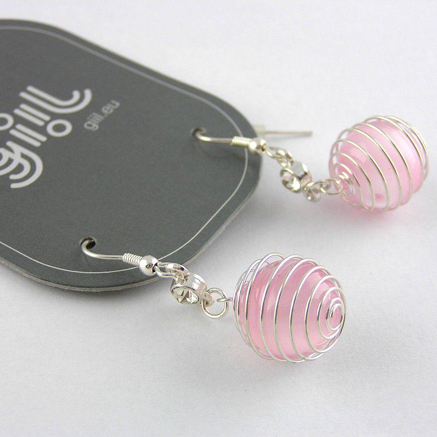 Růžové kuličkové drátěné perličky GIIL