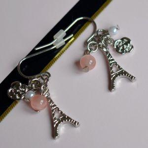 Stříbro-růžové EIFFELOVKY