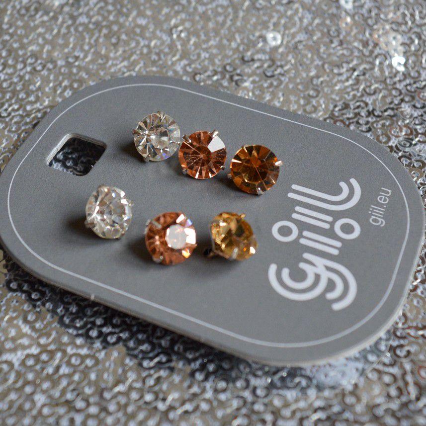 Troje diamantíkové pecky, tři barvy GIIL