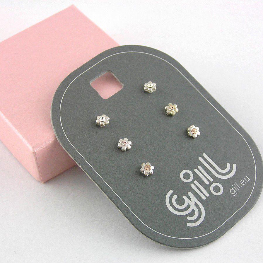 Troje miniaturní kytičky GIIL