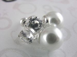 Zirkonové náušnice Lesklé kamínky s perličkou
