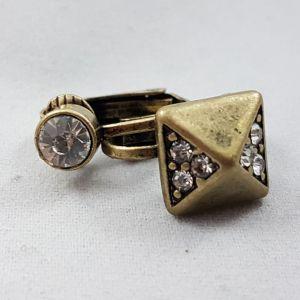 Zlaté klip náušnice s kamínky 2