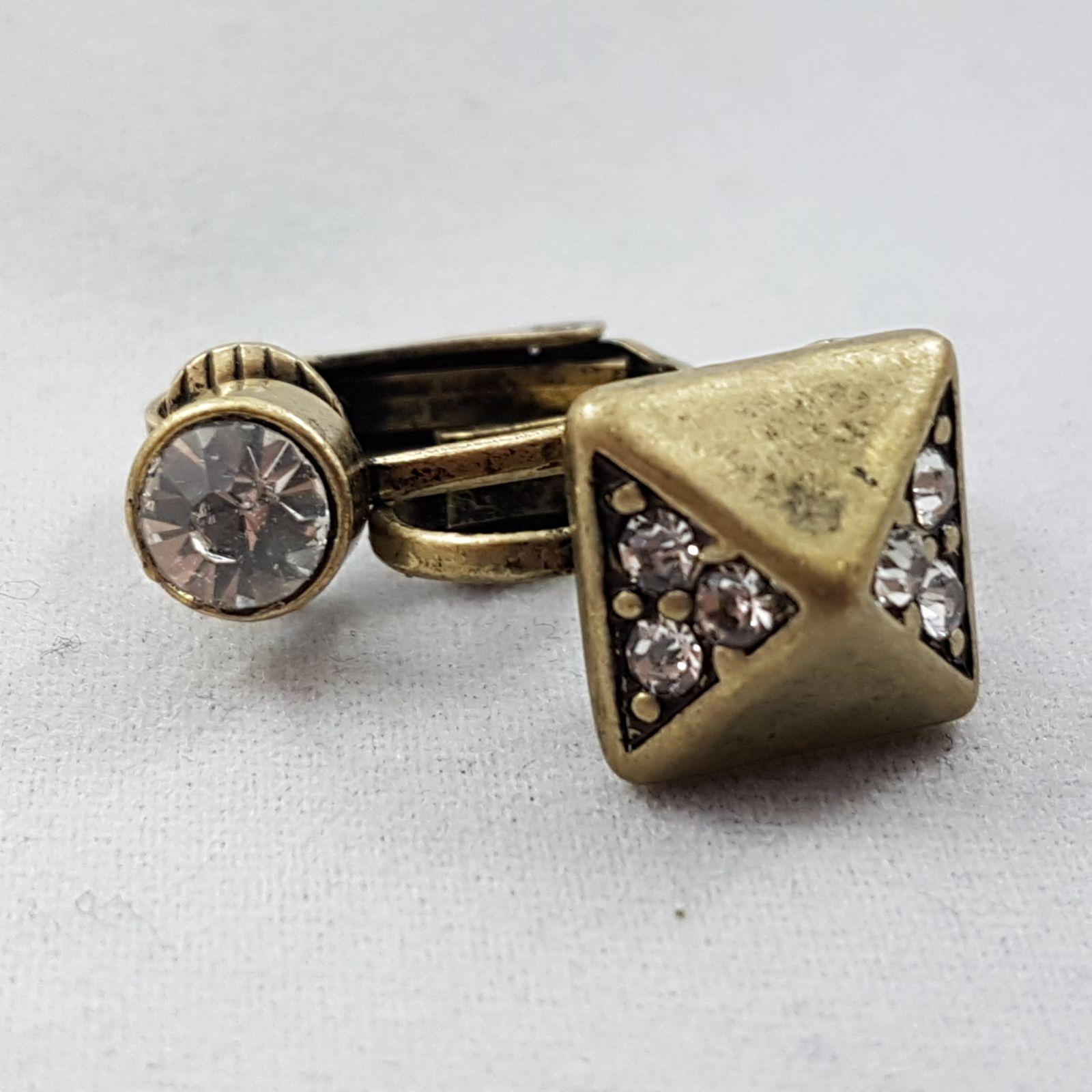 Zlaté Clip náušnice s kamínky