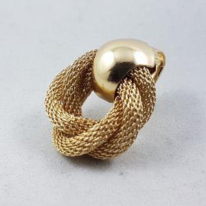 Zlaté drátěné Clip náušnice