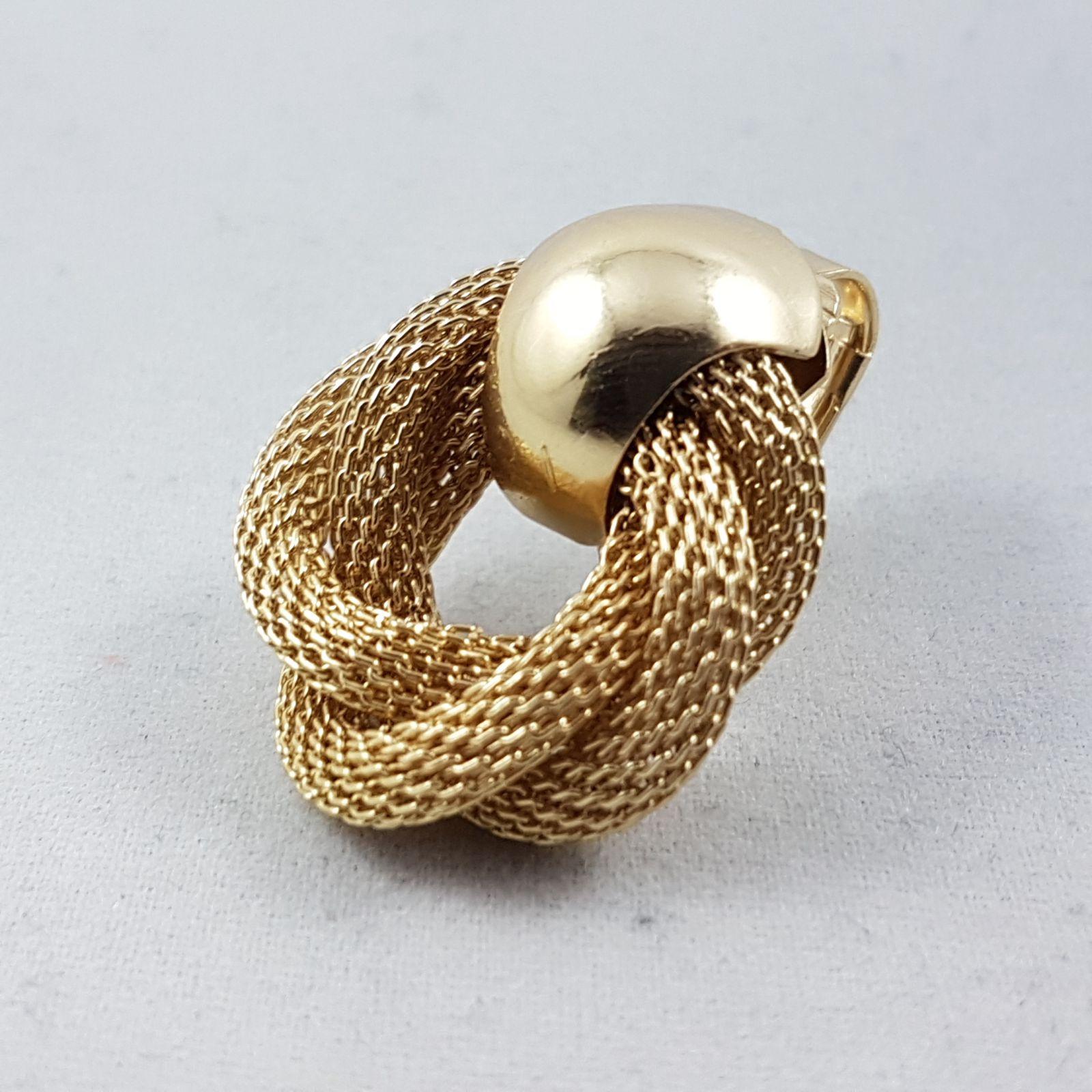 Zlaté drátěné Clip náušnice GIIL
