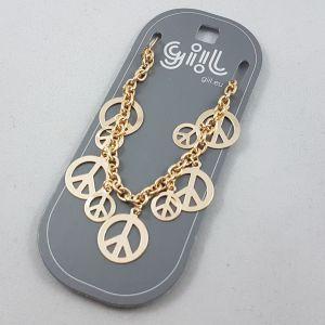 Zlatý náramek Peace