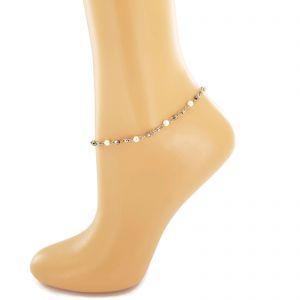 Jemný korálkový náramek na nohu