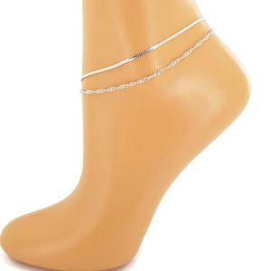 Jednoduchý dvojitý náramek na nohu GIIL