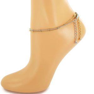 Náramek na nohu zlatý a stříbrný GIIL