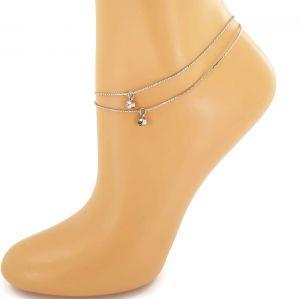 Náramek na nohu dvojitý kamínkový GIIL