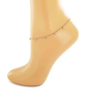 Náramek na nohu s malými kamínky GIIL