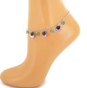 Náramek na nohu s perleťovými placičkami GIIL