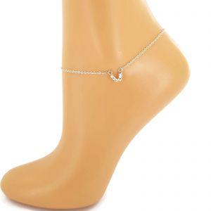 Náramek na nohu s korálky do tvaru V