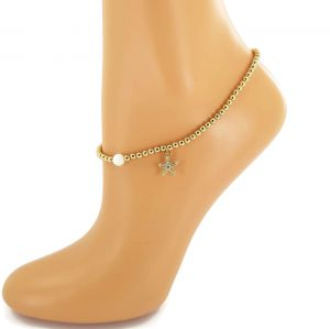 Náramek na nohu mořská hvězda a perlička GIIL