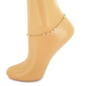 Řetízek na nohu s ružovými kamínky GIIL