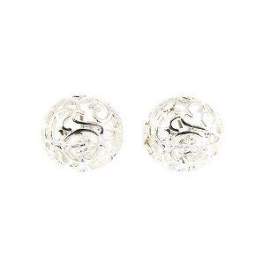 Stříbrné peckové náušnice stylu Rokoko