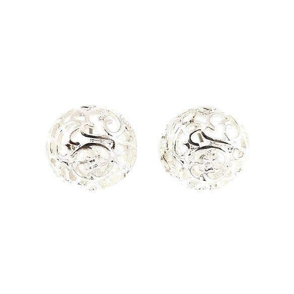 Stříbrné peckové náušnice stylu Rokoko GIIL