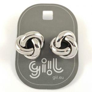 Stříbrné peckové náušnice ve tvaru uzlíku GIIL
