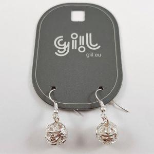 Stříbrné visací náušnice krajkové kuličky GIIL