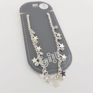 Stříbrný hvězdičkový náramek NA NOHU GIIL