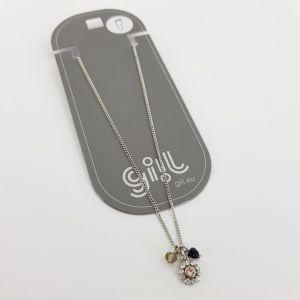 Stříbrný náramek NA NOHU s kytičkou a kamínkem GIIL