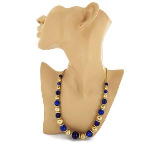 Dlouhý náhrdelník zlaté barvy s kuličkami GIIL