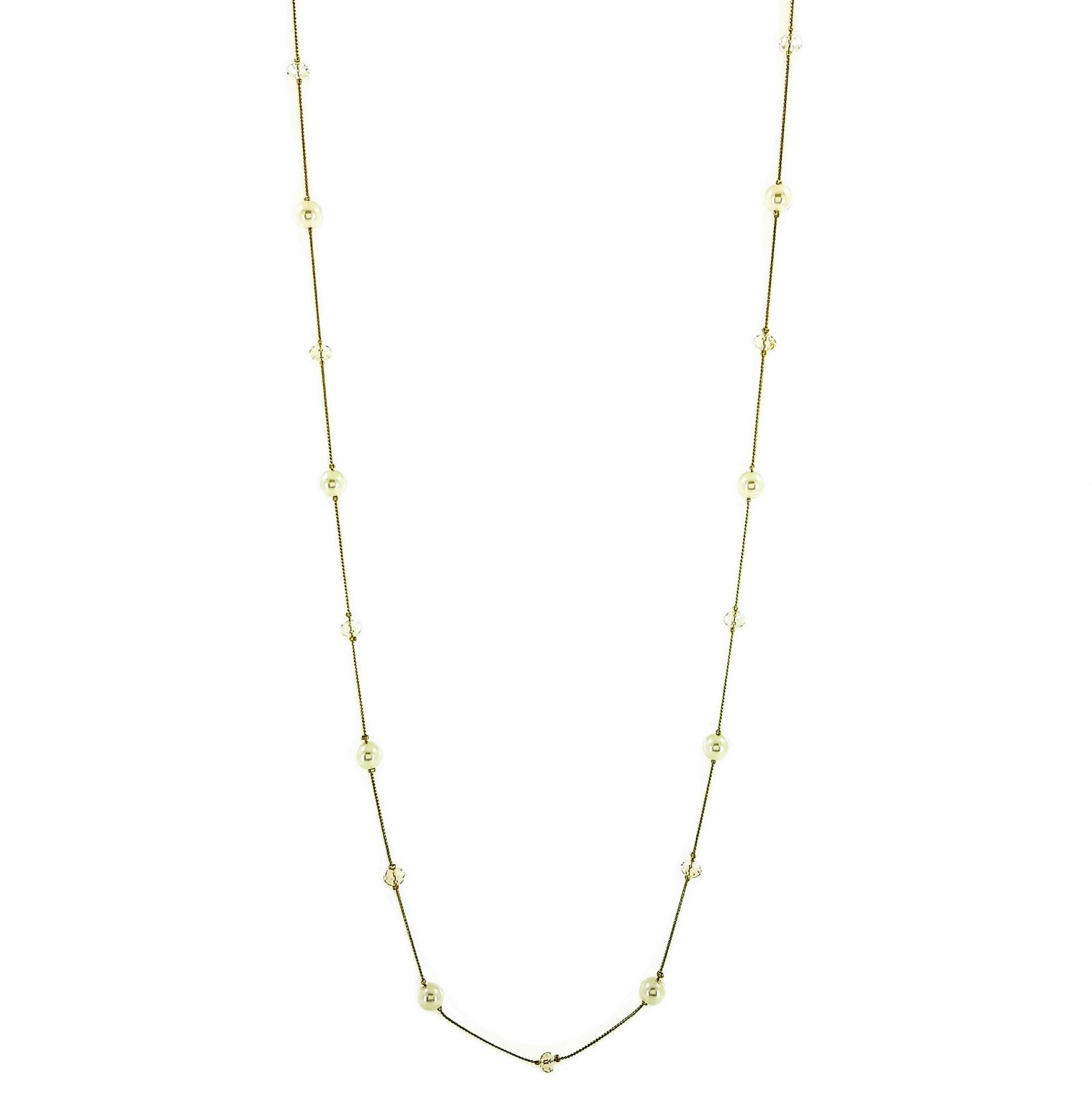 Dlouhý zlatý náhrdelník s perličkami GIIL
