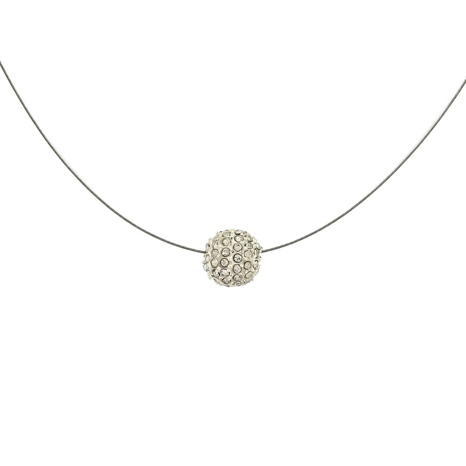 Drátkový náhrdelník s kamínkovou kuličkou GIIL
