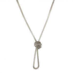 Kovový dlouhý hadový náhrdelník