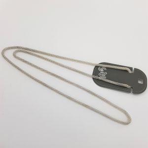 Stříbrný dlouhý jednoduchý náhrdelník