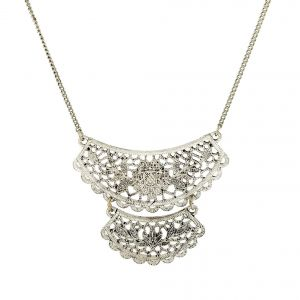 Stříbrný náhrdelník krajka GIIL