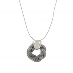 Kovový náhrdelník s věncem
