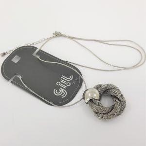Stříbrný náhrdelník domovní klepadlo tvar věnce GIIL