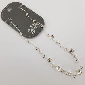 Lesklý decentní náhrdelník s několika kamínky GIIL