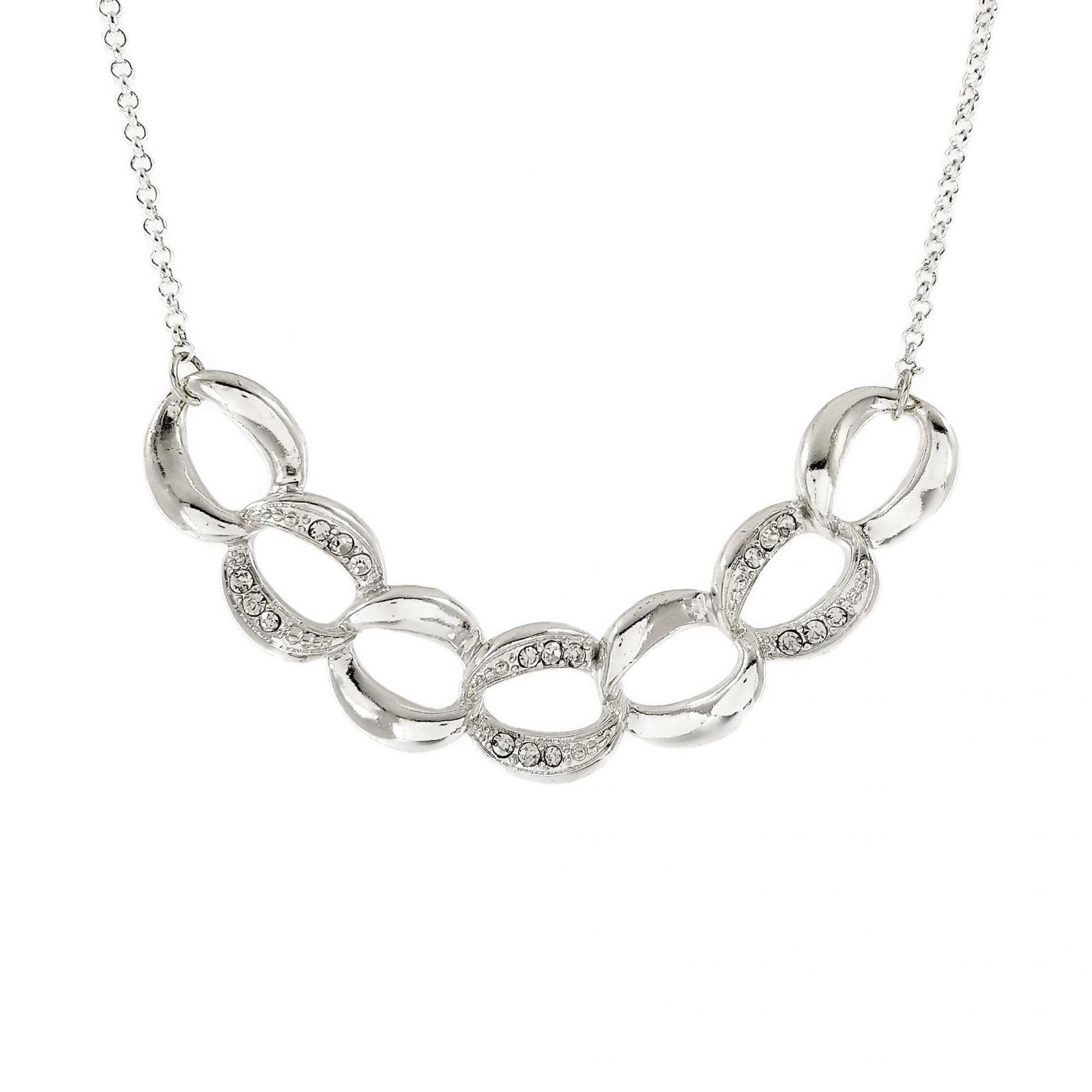 Lesklý masivní kamínkový náhrdelník