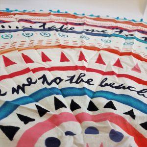 Šátek ve tvaru mandaly - slunce GIIL