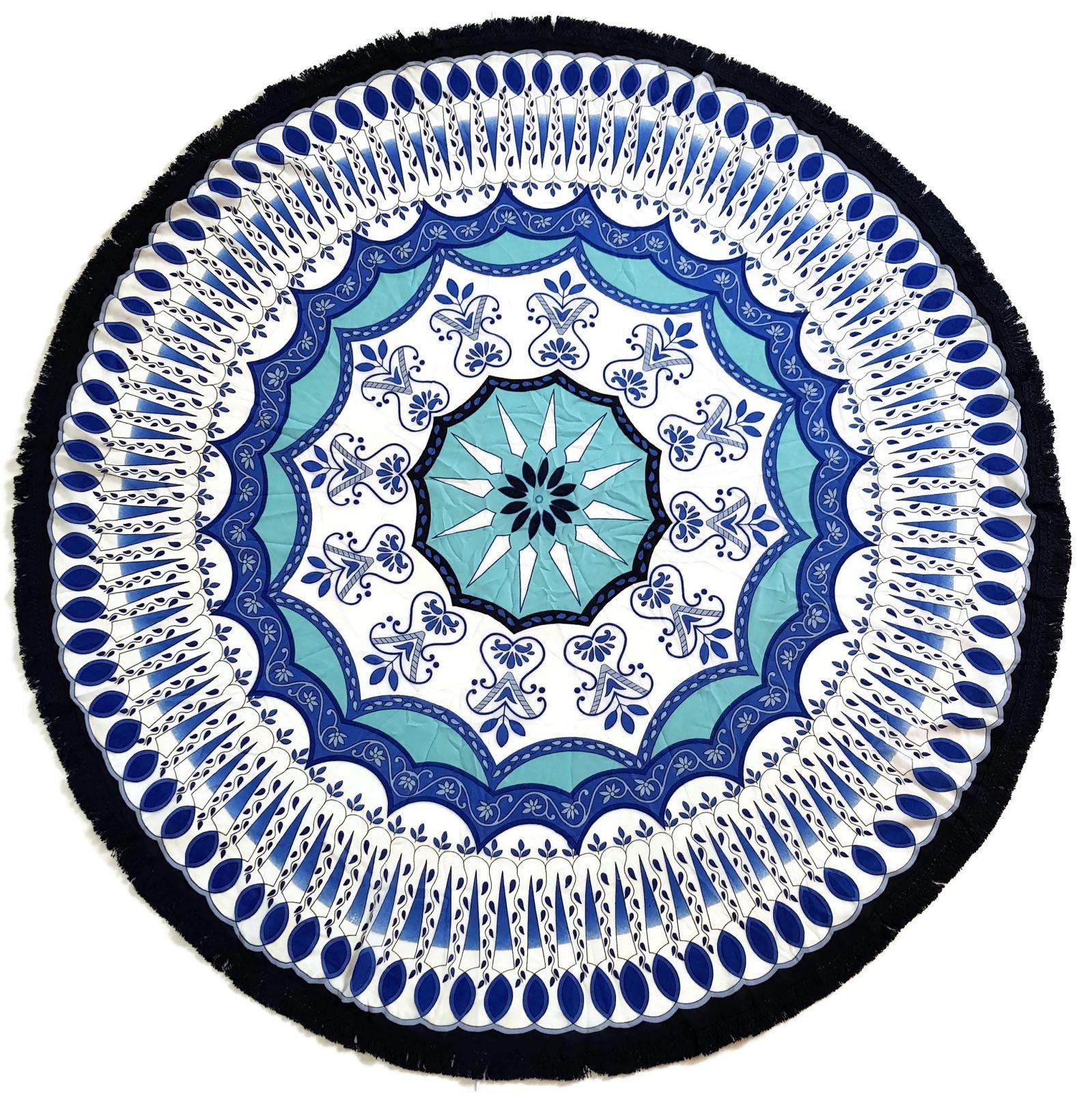 Šátek ve tvaru mandaly - zářící hvězda GIIL