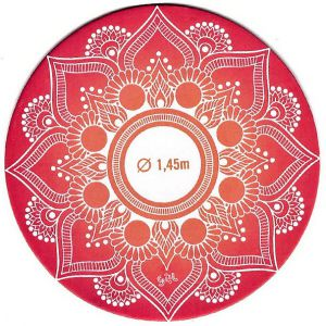 Šátek ve tvaru mandaly s geometrickými obrazci GIIL