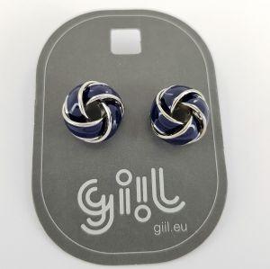 Náušnice modro stříbrné uzlíky GIIL