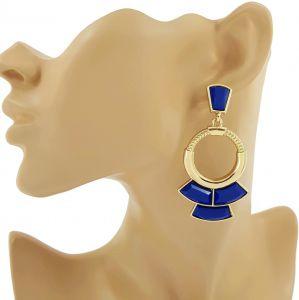 Visací náušnice egyptského stylu Kleopatra