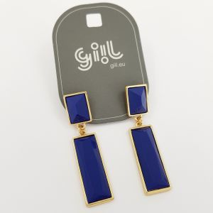 Visací náušnice z modrých obdélníků GIIL