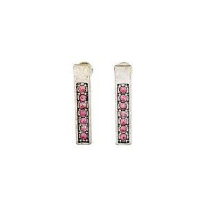 Náušnice tyčinky s růžovými kamínky