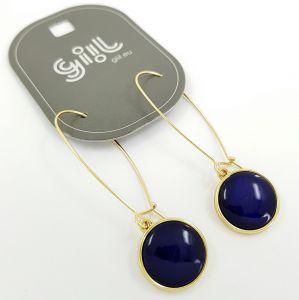 Visací náušnice s modrými placičkami GIIL