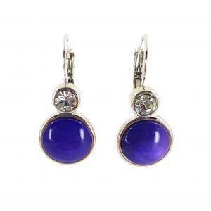 Náušnice fialové s kamínkem