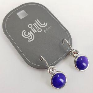 Náušnice modré s kamínkem GIIL