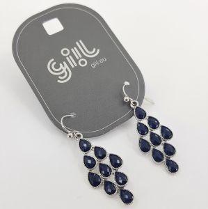 Náušnice modré slzičky GIIL
